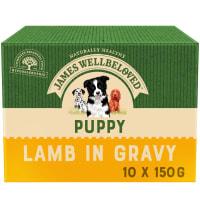 James Wellbeloved Puppy/Junior Wet Dog Food Pouches - Lamb & Rice in Gravy
