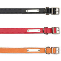 Ancol Heritage Leather Sewn/Half Lined Dog Collar in Black