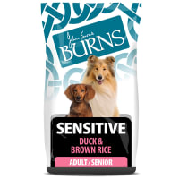 Burns Sensitive Adult/Senior Dry Dog Food - Duck & Brown Rice