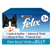 Felix Adult Wet Cat Food Pouch - Meat Selection in Jelly