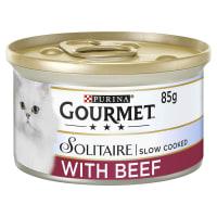 Gourmet Solitaire Adult Wet Cat Food - Beef in Tomato Sauce