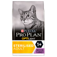 Purina Pro Plan Light Optirenal Adult Dry Cat Food - Turkey & Rice