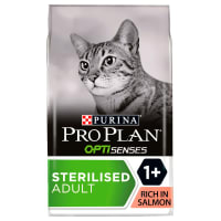 Purina Pro Plan Optisenses Sterilised Adult Dy Cat Food - Salmon & Rice