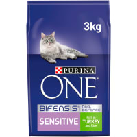 Purina ONE Sensitive Adult Dry Cat Food - Turkey & Rice
