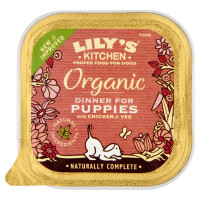 Lily's Kitchen Organic Dinner for Puppies Wet Dog Food - Chicken & Vegetables