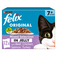 Felix Senior Pouches Wet Cat Food - Mixed Selection in Jelly