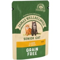James Wellbeloved Grain Free Senior Cat Lamb Pouch