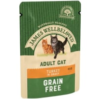 James Wellbeloved Grain Free Adult Turkey Wet Cat Food Pouches