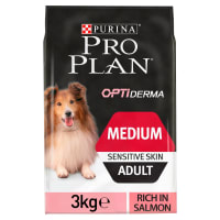 Purina Pro Plan Opti Derma Sensitive Skin Medium Adult Dry Dog Food - Salmon