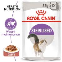 Royal Canin Sterilised Adult In Gravy Wet Cat Food