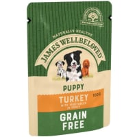 James Wellbeloved Grain Free Puppy Wet Dog Food Pouches - Turkey in Gravy