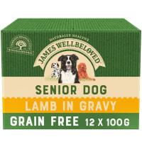 James Wellbeloved Grain Free Senior Wet Dog Food Pouches - Lamb in Gravy