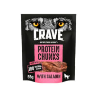 Crave Protein Chunks Natural Adult Dog Treat - Salmon