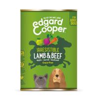 Edgard & Cooper Irresistible Grain Free Adult Wet Dog Food Tin - Lamb & Beef