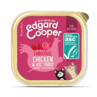 Edgard & Cooper Fabulous Grain Free Kitten Wet Cat Food - Chicken & ASC Trout