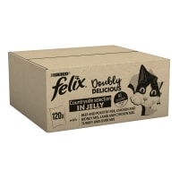 Felix As Good As It Looks Doubly Delicious Cat Food Meat 120x100g