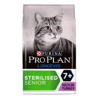 Purina Pro Plan Longevis Sterilised 7+ Senior Dry Cat Food - Turkey