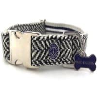 Hugo & Hudson Navy Herringbone Collar