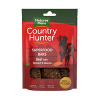 Natures Menu Country Hunter Superdood Bars Adult Dog Treats - Beef with Spinach & Quinoa
