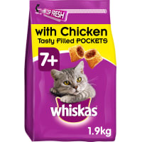 Whiskas 7+ Complete Senior Dry Cat Food - Chicken