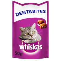 WHISKAS Dentabites Cat Treats with Chicken
