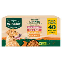 Winalot Sunday Dinner Adult Dog Wet Food Pouches - Mixed in Gravy