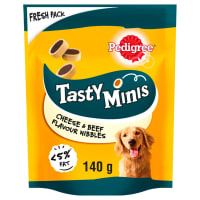 Pedigree Tasty Minis Adult Dog Treats - Cheese & Beef