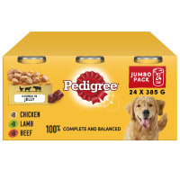 Pedigree Adult Dog Food Tins - Mixed Selection in Jelly