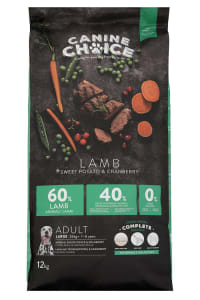 Canine Choice Grain Free Large Adult Dry Dog Food - Lamb