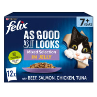 Felix As Good As It Looks Senior Wet Cat Food - Mixed Selection in Jelly