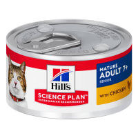 Hill's Science Plan Mature Adult Senior 7+ Wet Cat Food - Chicken