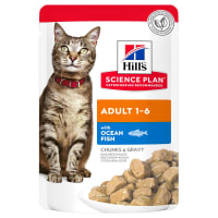 Hill's Science Plan Adult 1-6 Wet Cat Food Pouches - Ocean Fish