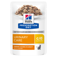Hill's Prescription Diet Urinary Care c/d Multicare Adult/Senior Wet Cat Food in Gravy - Chicken