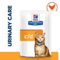 Hill's Prescription Diet Urinary Care c/d Multicare Adult/Senior Wet Cat Food in Gravy - Chicken
