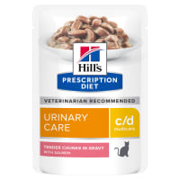 Hill's Prescription Diet Urinary Care c/d Multicare Adult/Senior Wet Cat Food in Gravy - Salmon