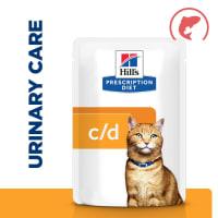 Hill's Prescription Diet Urinary Care c/d Multicare Adult/Senior Wet Cat Food in Gravy - Salmon