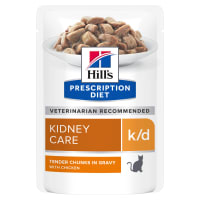 Hill's Prescription Diet Kidney Care k/d Adult/Senior Wet Cat Food in Gravy - Chicken