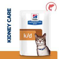 Hill's Prescription Diet Kidney Care k/d Adult/Senior Wet Cat Food in Gravy - Salmon