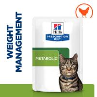 Hill's Prescription Diet Metabolic Weight Management Adult Wet Cat Food in Gravy - Chicken