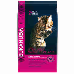 Eukanuba Cat Adult Sterilised Weight Control Rich in Chicken