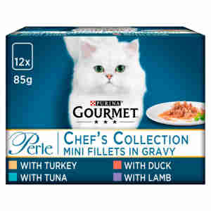 Gourmet Perle Adult Cat Food Mini Fillets Pouches