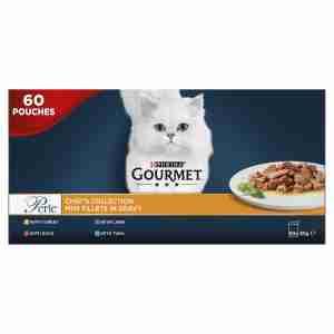 Gourmet Perle Adult Cat Food Mini Fillets Pouches