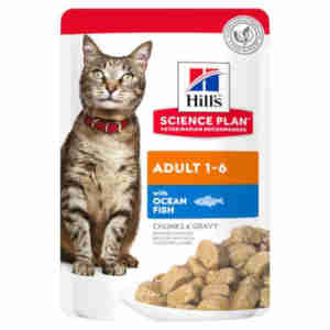 Hill's Science Plan Adult Optimal Care Cat Food  Pouches
