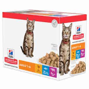 Hills Science Plan Feline Adult 1-6 Favourite Selction Pouches