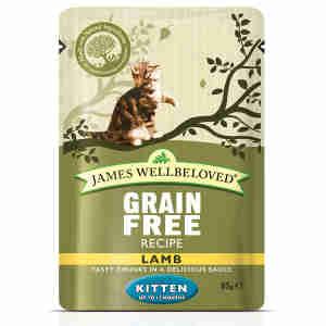 James Wellbeloved Kitten Lamb Pouch
