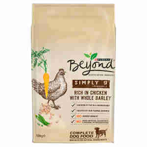 Beyond Simply Adult Dry Dog Food Rich in Chicken with Barley