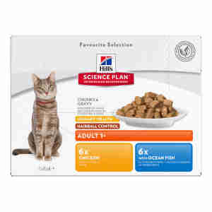 Hill's Science Plan Adult Urinary Hairball Control Multi Pack Cat Food