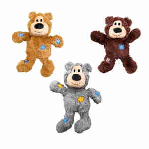 KONG Wildknots Bear Plush Dog Toy