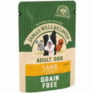 James Wellbeloved Grain Free Adult Lamb Wet Dog Food Pouch