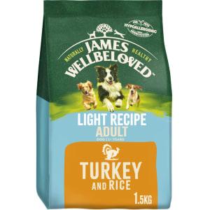 James Wellbeloved Light Adult Dry Dog Food - Turkey & Rice